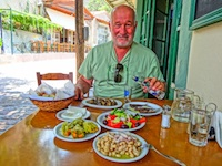 Greek island taverna