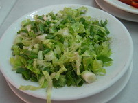 Athens Food: Lettuce salad
