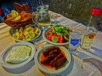 Greek mezedes plate