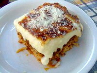 Greek food, pastitsio